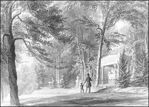 This image shows how Bostonians were supposed to use the space for the contemplation of mortality. Liberal religious leaders encouraged children to visit the cemetery with the hopes that they would become moral adults. Image courtesy of the National Park Service