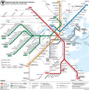 Current MBTA map